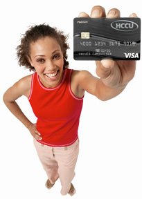 Woman with a Visa Card